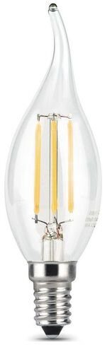 104801109 Лампа Gauss LED Filament  Candle tailed E14 9W 2700K