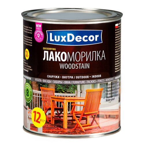 Лакоморилка LUXDECOR (орех) 0,75л